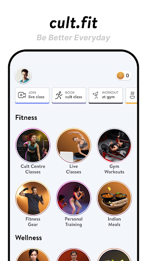 cult.fit Fitness, Meditation, Healthy food, Doctor screenshot 1