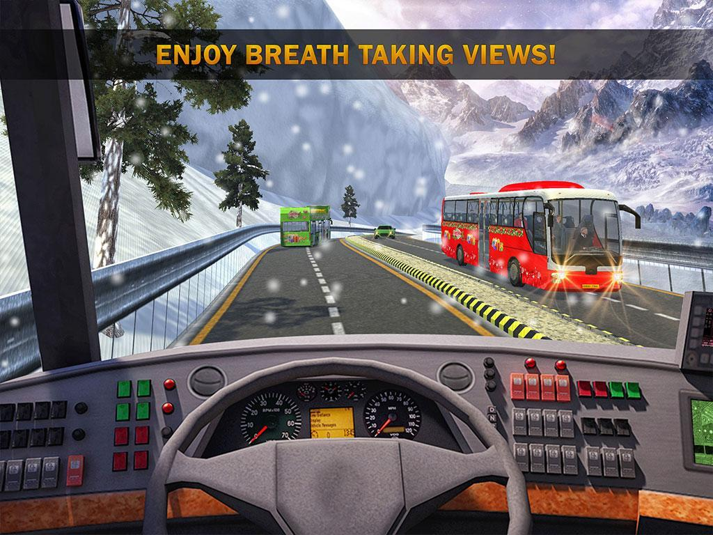 Uphill Bus Drive : Christmas Bus Simulator screenshot 8