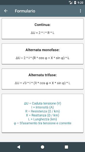 Calcoli Elettrici screenshot 5