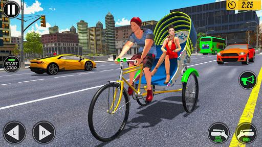 Bicycle Tuk Tuk Auto Rickshaw : Driving Games screenshot 4