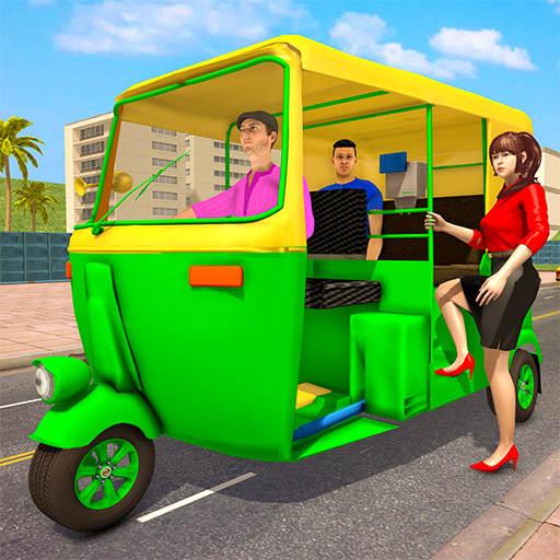 Public City Passenger Rickshaw Transport Simulator