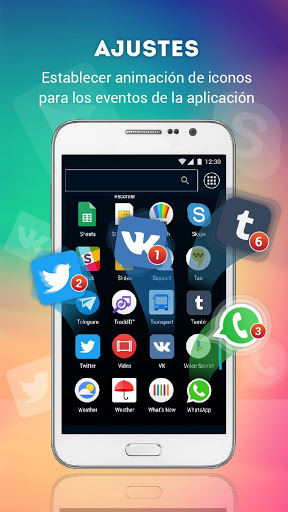 Lanzador con Iconos en Vivo para Android screenshot 3