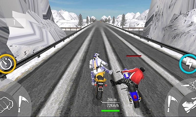 Bike Attack Race Highway Tricky Stunt Rider скриншот 6
