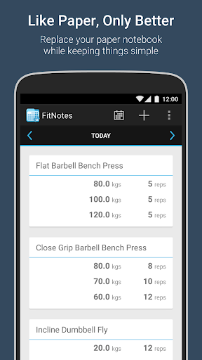 FitNotes - Gym Workout Log screenshot 1