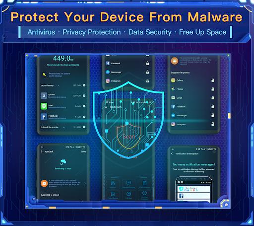 Nox Security - Antivirus Master, Clean Virus, Free screenshot 1