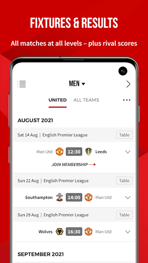 Manchester United Official App स्क्रीनशॉट 7