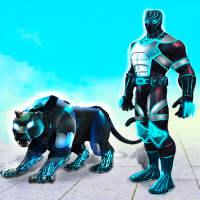 Flying Panther Robot Hero: Robot Black Hero Games on APKTom