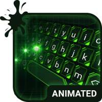 Green Light Animated Keyboard + Live Wallpaper on 9Apps