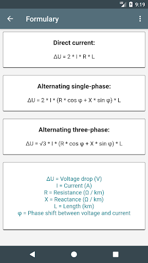 Electrical Calculations screenshot 5