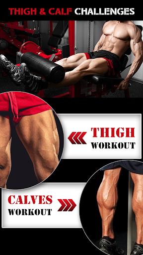Leg Workout for Men - Thigh, Muscle Fitness 30 Day 1 تصوير الشاشة