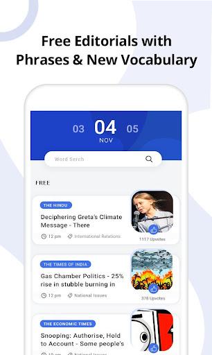 #1 Vocab App: Hindu Editorial, Grammar, Dictionary 1 تصوير الشاشة