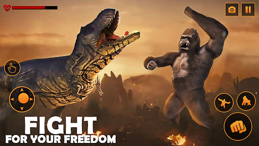 Monster Gorilla Attack-Godzilla Vs King Kong Games screenshot 4