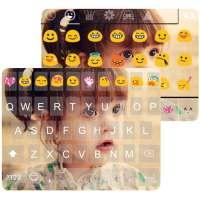 Clavier Emoji Cute Photo Thème on 9Apps