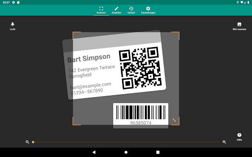 QR & Barcode Scanner (Deutsch) screenshot 11