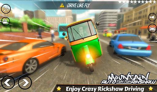 Mountain Auto Tuk Tuk Rickshaw:新しいゲーム2021 screenshot 4