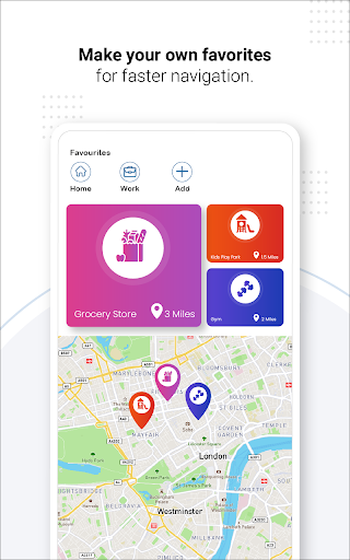 Navegação GPS ao vivo, mapas, direções e explorar screenshot 21