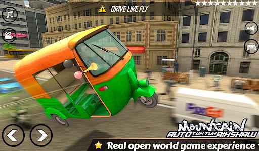 Mountain Auto Tuk Tuk Rickshaw:新しいゲーム2021 screenshot 3