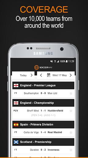 Soccerway screenshot 1