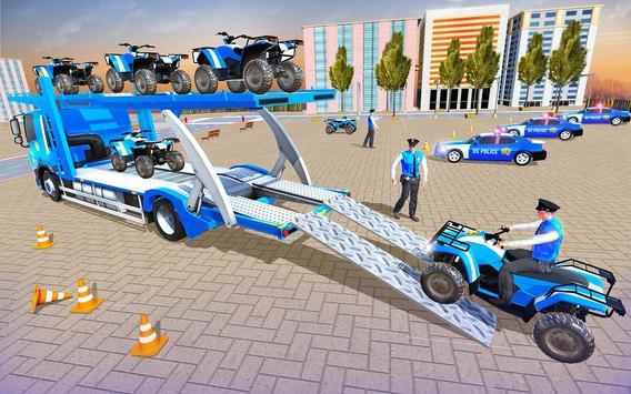 Us Police Car Transporter Truck Driving Simulator screenshot 5