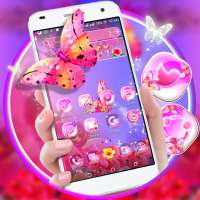 Flower Butterfly Launcher Theme on 9Apps