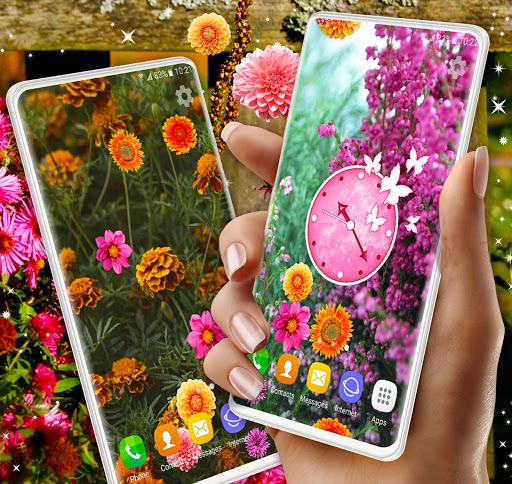 Autumn Flowers 4K Live Wallpaper ❤️ Forest Themes 3 تصوير الشاشة
