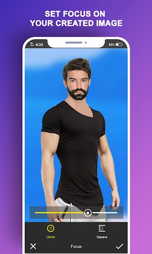 Man T-Shirt Suit Photo Editor स्क्रीनशॉट 6