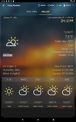 Hava ve saat Widget için Android (Hava durumu) screenshot 15