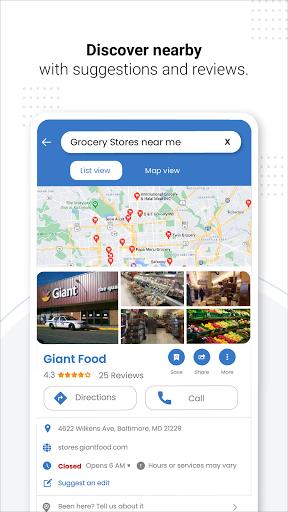 Navegação GPS ao vivo, mapas, direções e explorar screenshot 8