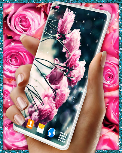 Spring Rose Live Wallpaper 🌹 Pastel Pink Themes screenshot 5