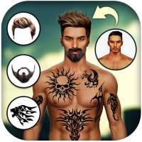 Man Tattoo & Hairstyle Editor on 9Apps