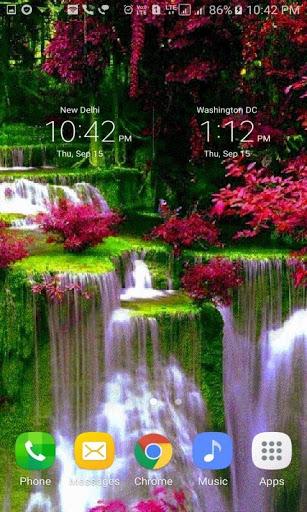 Waterfall Flowers LWP screenshot 3