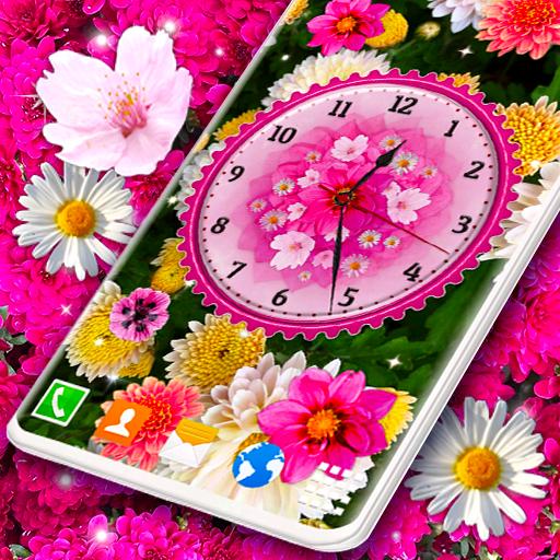 Flower Blossoms Clock 🌺 Spring 4K Live Wallpaper icon