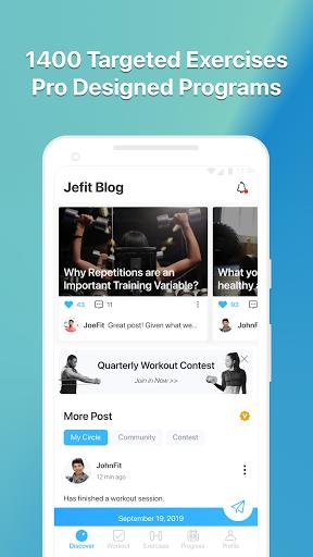 JEFIT Workout Tracker, Weight Lifting, Gym Log App screenshot 5