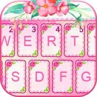 Tema Keyboard Pinkflowers on 9Apps