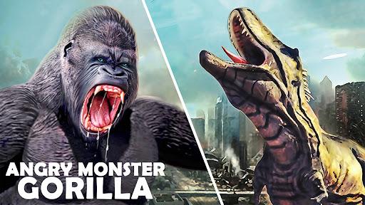 Monster Gorilla Attack-Godzilla Vs King Kong Games screenshot 1