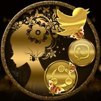 Gold Butterfly Girl Launcher Theme on 9Apps