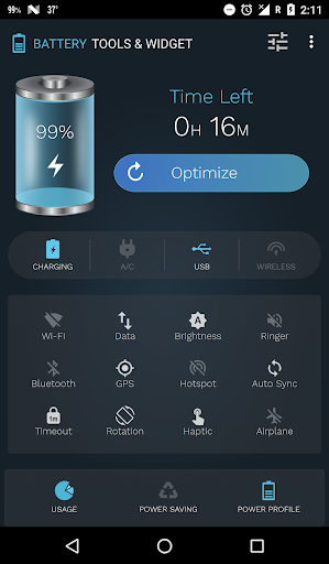 Battery Tools & Widget for Android (Battery Saver) screenshot 3