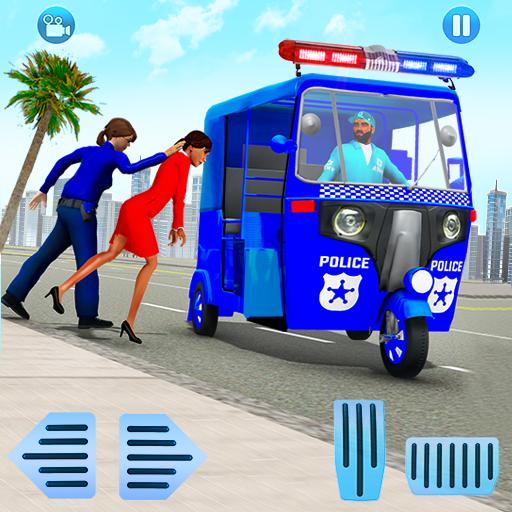 Police Tuk Tuk Auto Rickshaw Driving Game 2021 icon