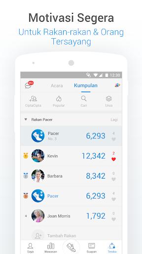 Pedometer - Penjejak Langkah, Kalori & Berat Badan screenshot 6