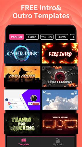 Intro Maker - Game Intro, Outro, Video Templates screenshot 1