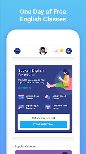 enguru Live English Learning | Speaking | Reading скриншот 2