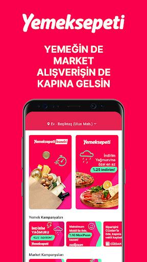 Yemeksepeti - Yemek & Market Siparişi screenshot 1