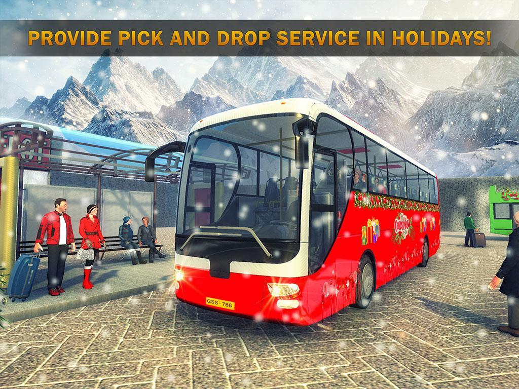 Uphill Bus Drive : Christmas Bus Simulator screenshot 6