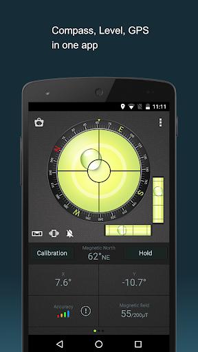 Compass Level & GPS स्क्रीनशॉट 1