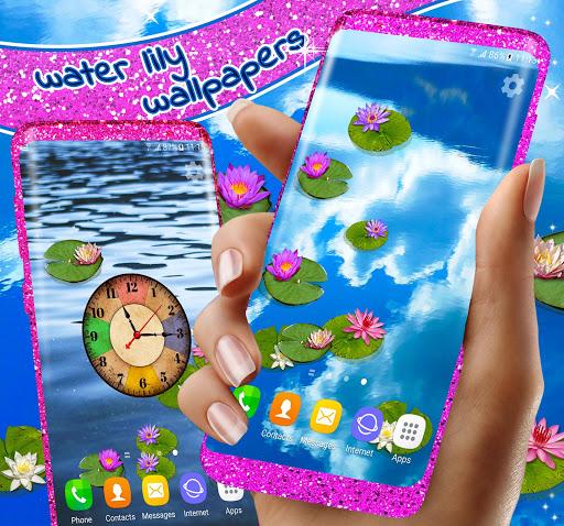 Water Lily Live Wallpaper 🌺 Flowers Wallpapers 4 تصوير الشاشة
