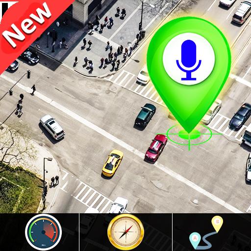 GPS satelliet - leven aarde map & stem navigatie icon