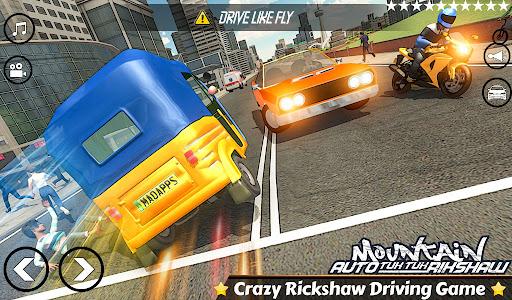 Mountain Auto Tuk Tuk Rickshaw:新しいゲーム2021 screenshot 1