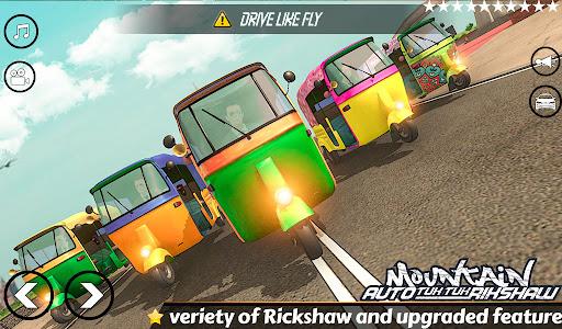 Mountain Auto Tuk Tuk Rickshaw:新しいゲーム2021 screenshot 6
