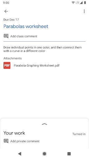 Google Classroom screenshot 6