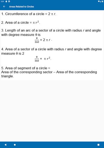 Math Formulas - Class 6 to 12 screenshot 13